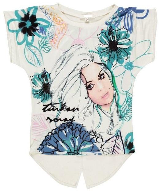 Resim Baskılı Tişört çiçekli Bayan Resim Baskılı