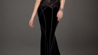 Bayan Kadife Elbise Modelleri
