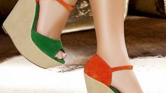 Bayan Dolgu Topuklu Ayakkabı Modelleri