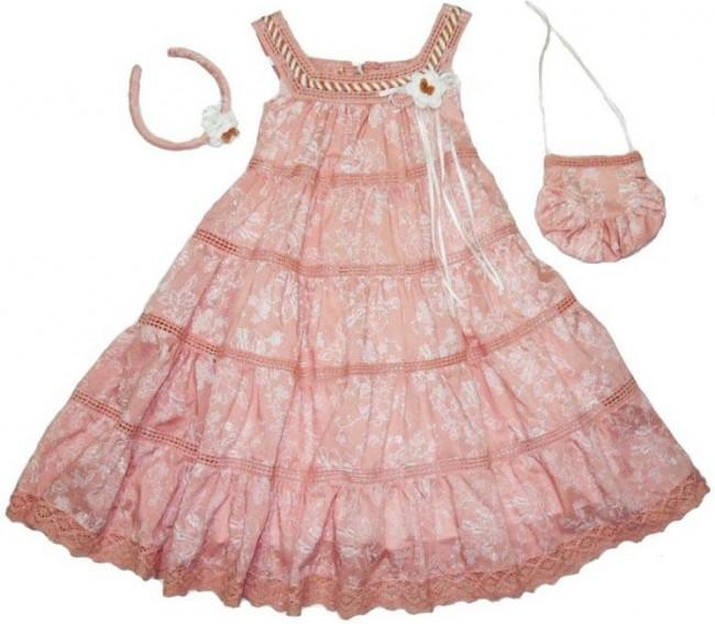 Askılı Yazlık Kız Çocuk Elbise