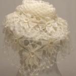 Büyük çiçek motifli firkete şal modeli