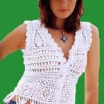 Badem motifli püsküllü bayan yazlık yelek modeli