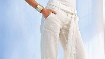 Bayan Keten Pantolon Modelleri