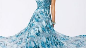Bayan Şifon Elbise Modelleri