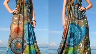 Yazlık Bayan Uzun Elbise Modelleri