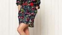 Yazlık Bayan Kapri Kollu Elbise Modelleri