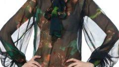 Bayan Şifon Bluz Modelleri