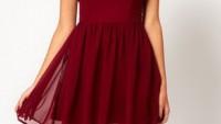 Bayan Sandık Yaka Elbise Modelleri