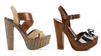 Yazlık Bayan Ahşap Topuklu Ayakkabı Modelleri