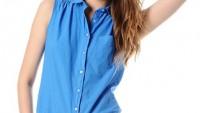 Yazlık Bayan Büzgülü Gömlek Modelleri