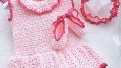 Yazlık El Örgüsü  Bebek Elbise Modelleri