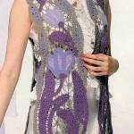 Lale motifli bayan yazlık yelek modeli