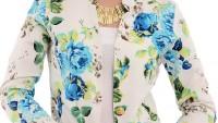 Yazlık Renkli Desenli Bayan Ceket Modelleri