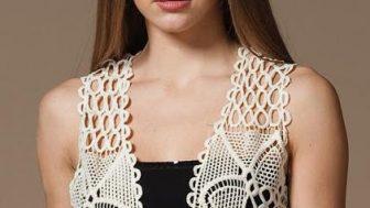 Bayan Dantelli Yelek Modelleri