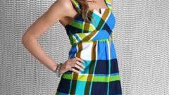 Yazlık Bayan Ekose Elbise Modelleri