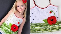 Yazlık Kız Çocuk Örgü Bluz Modelleri