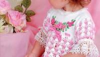 Kız Çocuk Dantelli Elbise Modelleri