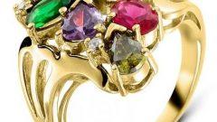 Myra Gold Yeşil Altın Bayan Yüzük Modelleri