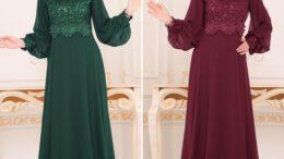 Tesettür Abiye Elbise Modelleri