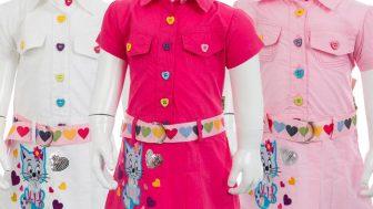Yazlık Kız Çocuk Kumaş Elbise Modelleri