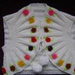 Renkli çiçekli yazlık kız çocuk yelek modeli
