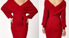 Kışlık Triko Kadın Elbise Modelleri