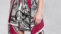 Bayan Desenli Elbise Modelleri
