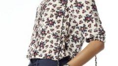 Bayan Desenli Gömlek Modelleri