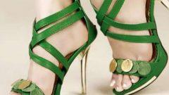 Yazlık Bayan Pullu Ayakkabı Modelleri