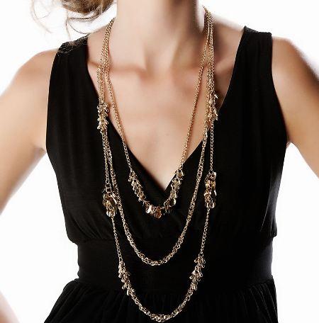 Zincirli bayan uzun kolye modeli
