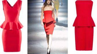 Yılbaşı İçin Kırmızı Bayan Elbise Modelleri